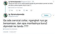 Cuitan Sigit Pramudya di Twitter tentang penanganan pada Choirul Huda.