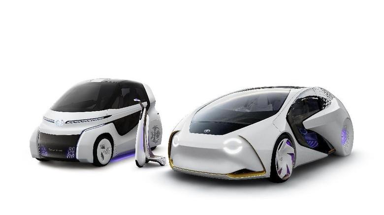 (Dari kiri ke kanan) Concept-i RIDE, Concept-i WALK dan Concept-i (Foto dok: Toyota)