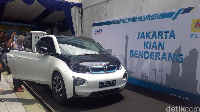 Salah satu contoh mobil listrik (Foto: Fadhly Fauzi Rachman/detikFinance)