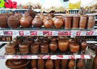 Dekorasi Etnik di Pasar Kaget Batik Transmart Carrefour