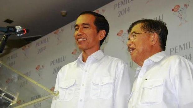 Jokowi-JK saat daftar sebagai capres-cawapres di KPU pada 2014 lalu