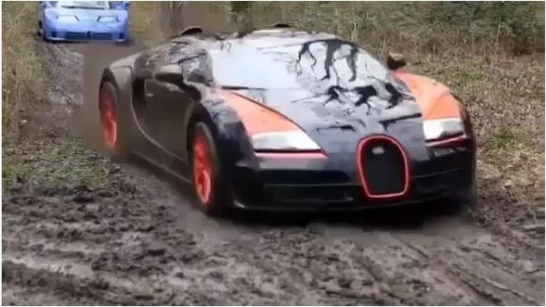 Bugatti, Ferrari, Lamborghini Diajak Offroad (Foto: Screenshot Instagram)