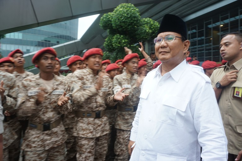 Gerindra Bikin Sayap Purnawirawan, Prabowo: Pejuang Tak Ada Pensiun