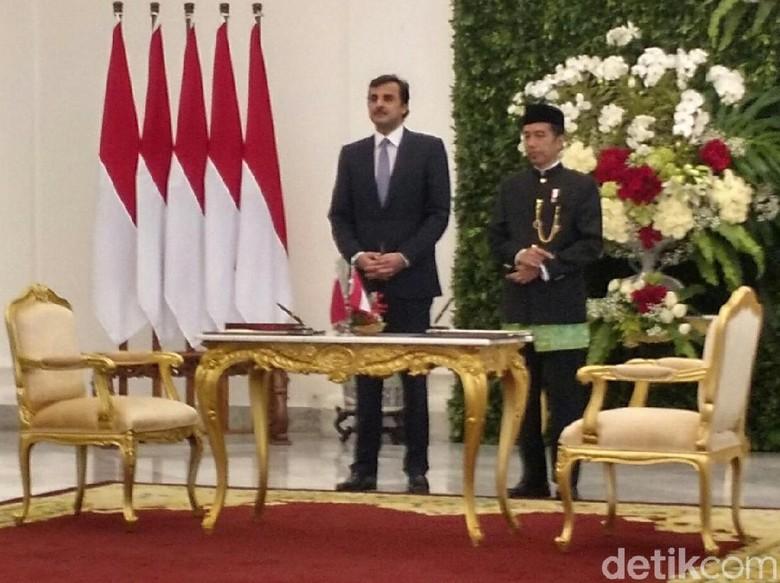 Bertemu Jokowi, Emir Qatar: Kami Siap Berdamai Akhiri Blokade
