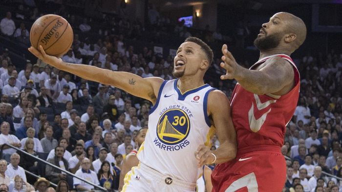 Golden State Warriors kalah 121-122 dari Houston Rockets di laga pertama NBA 2017/2018 (Foto: Kyle Terada-USA TODAY Sports)
