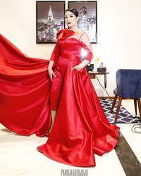 Jahatnya Netizen, Nagita Slavina Menawan Bergaun Merah Malah Dinyinyirin