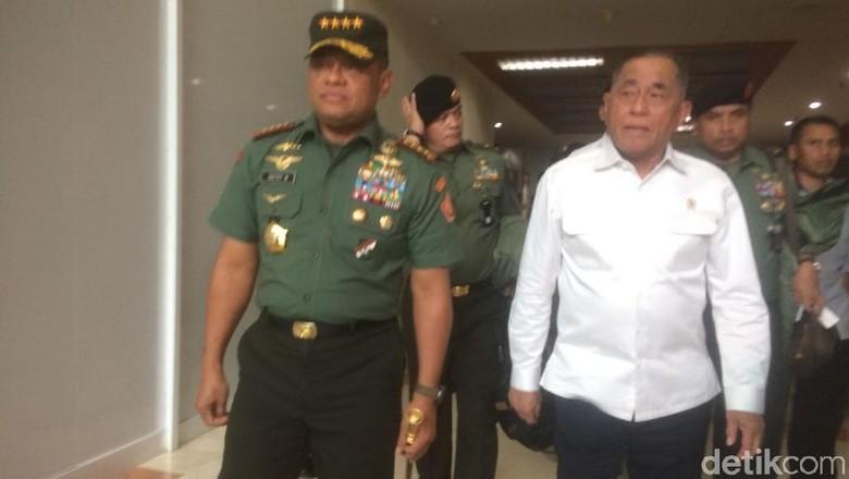 Jalan Berdampingan, Panglima TNI dan Menhan Rapat di DPR
