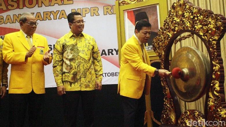 Novanto hingga Habibie Hadiri Seminar Fraksi Golkar MPR