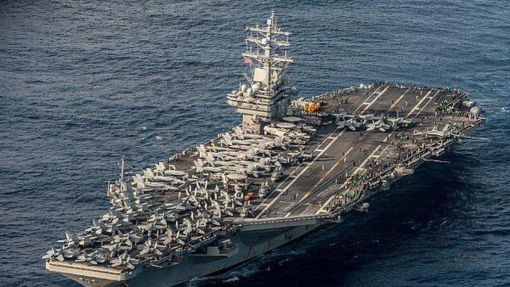 Kapal Induk Amerika Dikerahkan ke Teluk, Ada Ancaman Khusus?