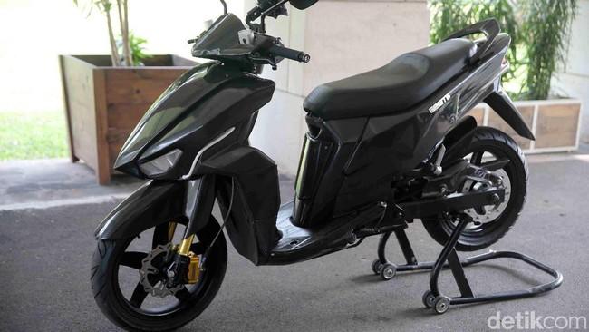 Motor listrik made in Indonesia Gesits Foto: Agung Pambudhy