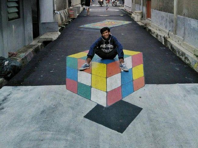 Mantap! Lukisan 3D Jalanan Karya Remaja di Depok