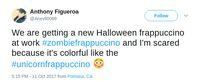 Hii! Ada Zombie Frappuccino dengan Whipped Cream 'Otak'