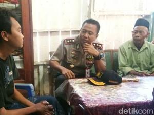 Nasron, Penderita Asam Urat Tinggi Dijenguk Kapolres Probolinggo