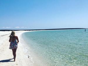 Foto: Bukan Pasir Putih, Pantai Ini dari Ribuan Kulit Kerang