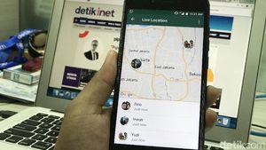 Komentar Kocak Netizen Soal Live Location WhatsApp