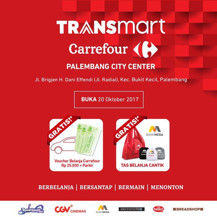 Foto: Transmart Carrefour Palembang City Center Dibuka Hari Ini