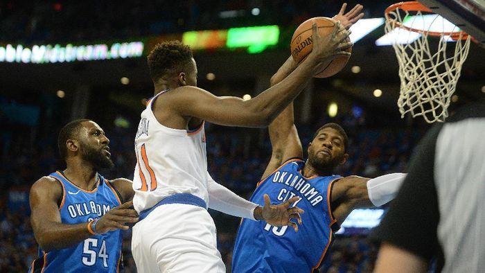 Oklahoma City Thunder vs New York Knicks (Foto: Mark D. Smith-USA TODAY Sports)
