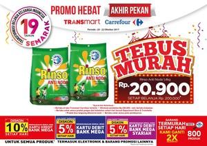 Bun, Ada Tebus Murah Detergen di Transmart Carrefour Lho