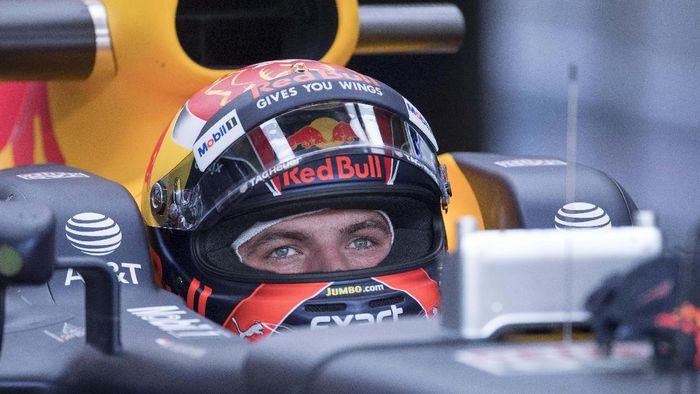 Verstappen melakukan kesalahan hingga mobilnya menabar dinding lintasan GP Monako. (Foto: (Jerome Miron-USA TODAY/Reuters))