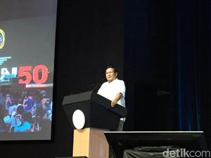 Bicara Nasionalisme, Prabowo: Kondisi Bangsa Sedang Lemah