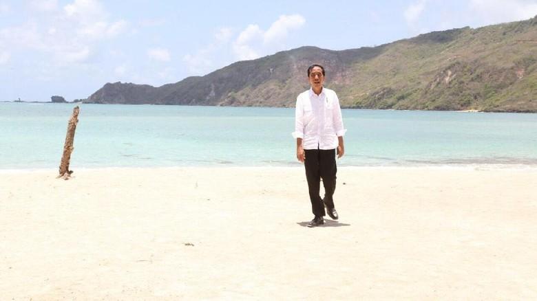 Presiden Jokowi daat di Mandalika, Lombok (Rusman/Biro pers Setpres/Kemenpar)