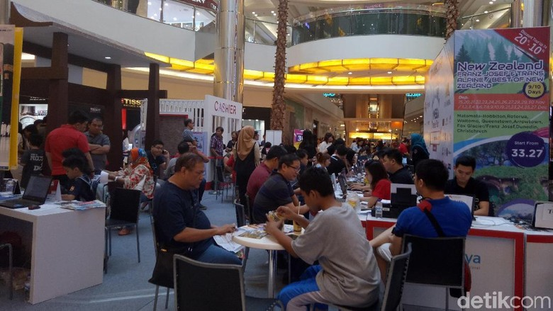 Suasana Mega Travel Fair Surabaya hari ketiga (Gracella/detikTravel)