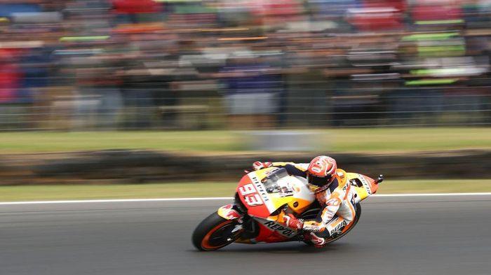 Marc Marquez akan start terdepan di MotoGP Australia (Foto: Robert Cianflone/Getty Images)