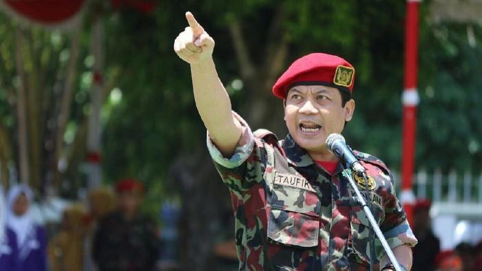 Foto: Taufik Kurniawan di acara KOKAM Muhammadiyah. (Dok Istimewa).
