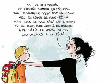 Berbagai pesan untuk si kecil yang mau berangkat sekolah. (Foto: Facebook/ Nathalie Jomard)
