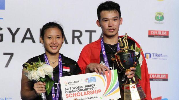 Rinov Rizaldy juara bersama Phita Haningtyas Mentari
