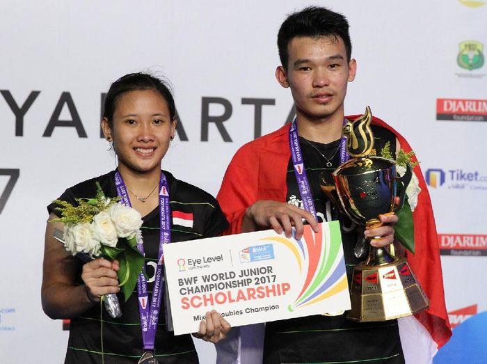 Rinov Rivaldy/Pitha Haningtyas Mentari, pasangan ganda campuran Indonesia (Foto: Tim Humas Dan Social Media PP PBSI)