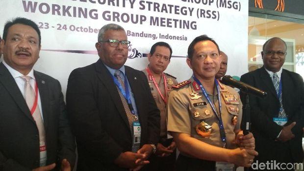 Kapolri Buka Pertemuan Melanesian Spearhead Group di Bandung