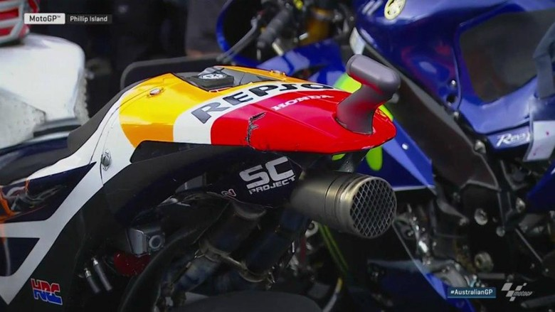 Buntut Motor Marquez Sobek, Bukti Sengitnya Balapan di Australia