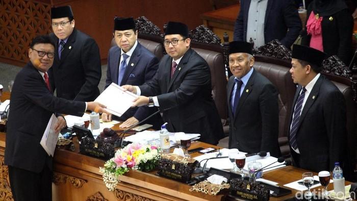 Pengesahan Perppu Ormas jadi UU (Lamhot Aritonang/detikcom)