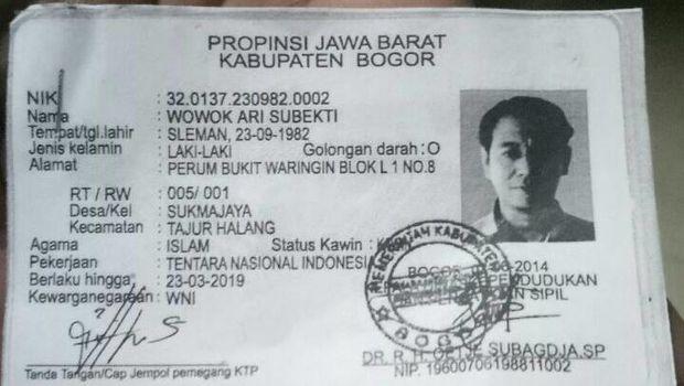 KTP milik Wowok.