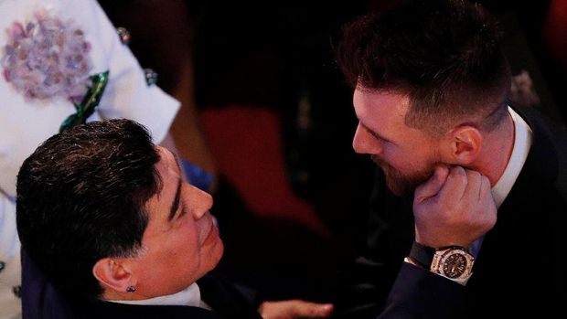 Diego Maradona dianggap Zico masih lebih hebat dari Lionel Messi. (