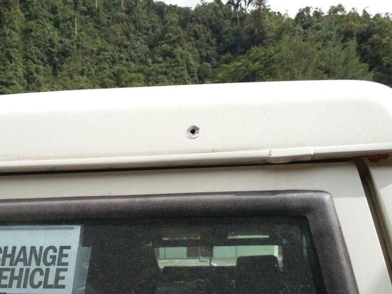 Mobil Freeport Berisi 6 Orang dan 1 Bayi Ditembaki di Tembagapura
