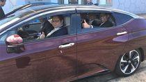 Menperin Coba Mobil Hidrogen di Jepang