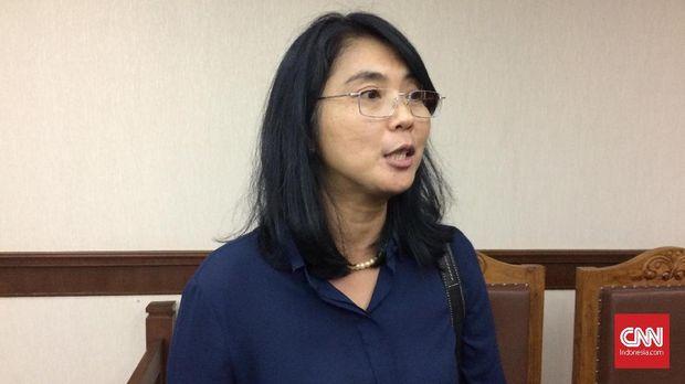 Kuasa hukum warga BUkit Duri Vera R. Soemarwi, di Pengadilan Negeri Jakarta Pusat, Rabu (25/10/2017).
