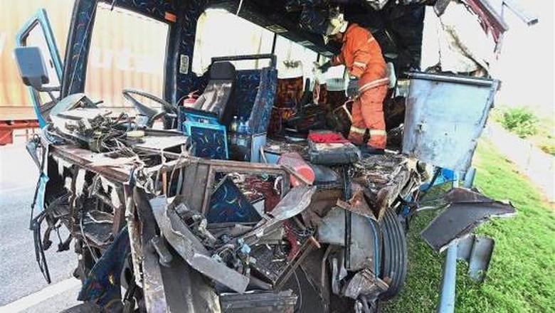 Jenazah 7 WNI Korban Bus Maut Diterbangkan dari Malaysia ke RI