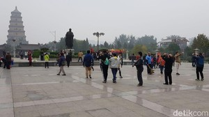 Pagoda Angsa Liar Raksasa di China, Bikin Ingat Kera Sakti