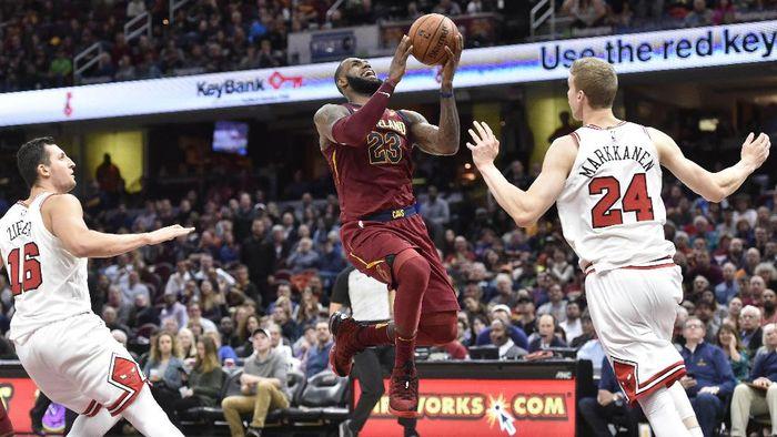 Cleveland Cavaliers menang 119-112 atas Chicago Bulls (Foto: David Richard-USA TODAY Sports)