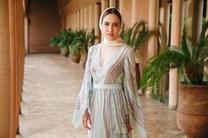Shandy Aulia Cantik Berkerudung di Maroko