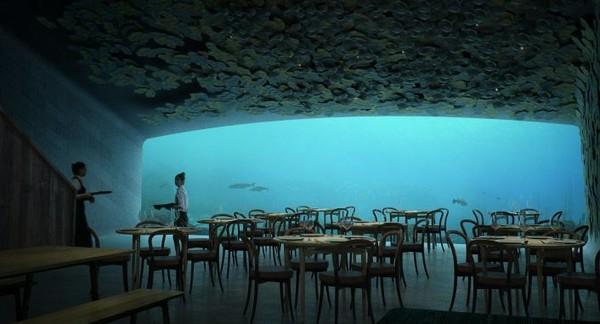 Restoran ini akan bertingkat tiga dan berkapasitas hingga 100 orang. Di luar jam buka, restoran ini akan digunakan sebagai pusat penelitian biologi kelautan dan akan ada pula eksperimen-eksperimen untuk mempelajari perilaku kehidupan laut akibat adanya pergeseran musim (Dok. CNN Style)