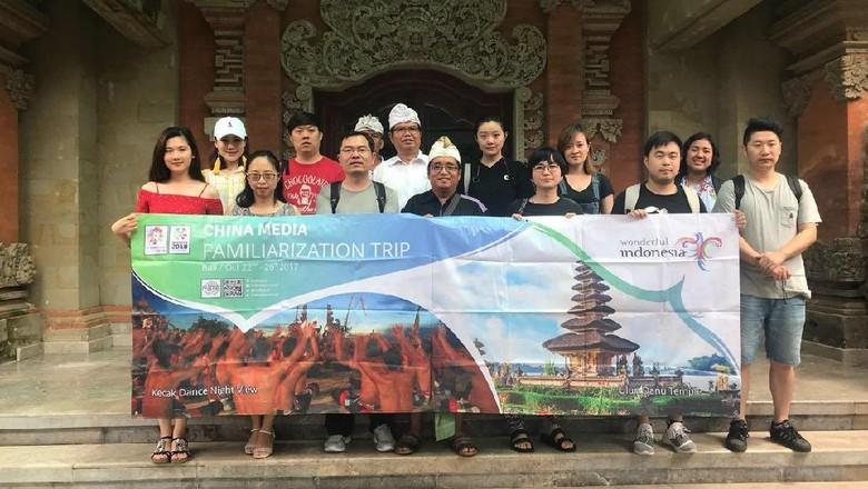 Ilustrasi turis China di Bali (dok Kemenpar)