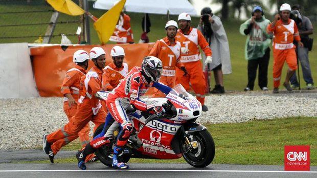 Mantan pebalap MotoGP Scott Redding saat m