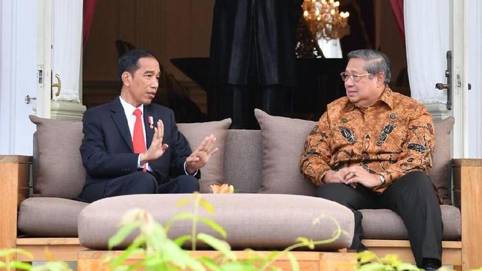 Jokowi dan SBY bertemu di Istana Kepresidenan pada Jumat (27/10/2017).