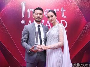 Terima !nsert Award, Rio Dewanto dan Atiqah Kenang Sulitnya Mendapatkan Anak