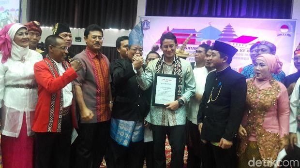 Wagub DKI Jakarta Sandiaga Uno di Ancol, Sabtu (28/10/2017)