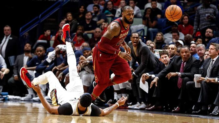 Cleveland Cavaliers dibekap New Orleans Pelicans. Foto: Derick E. Hingle-USA TODAY Sports/Reuters